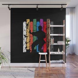 Karate Pose Silhouette Wall Mural