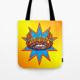 Psychedelic Lips  Tote Bag