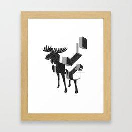 moose_deconstructed Framed Art Print