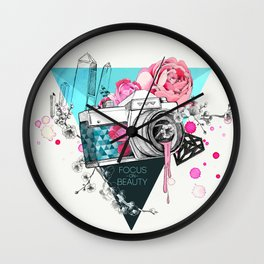 Focus on beauty Wall Clock