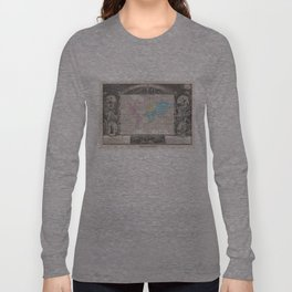 Vintage Map of The World (1852) 2 Long Sleeve T-shirt