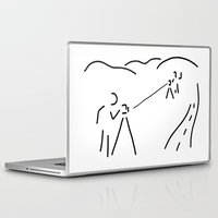 engineer Laptop & iPad Skins featuring measurement engineer cartographer geoinformation by Lineamentum