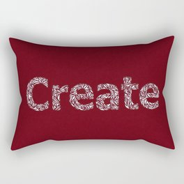 Create: Cut Paper Typography Rectangular Pillow