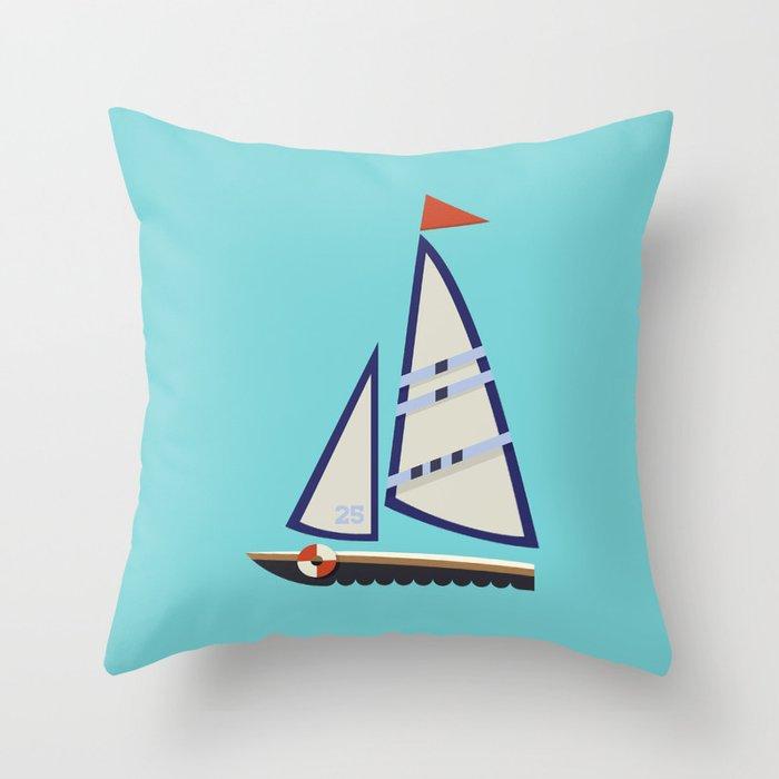 Sailboat I Throw Pillow