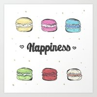 macaroons Art Prints featuring Macaroons by AshleyRose