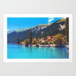 Brienz, Switzerland Art Print