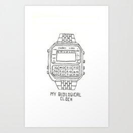 My Biological Clock, Casio C-801 Art Print