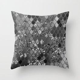 Mermaid Glitter Scales #7 (Faux Glitter) #shiny #decor #art #society6 Throw Pillow