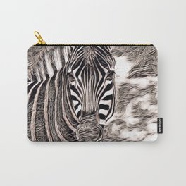 Rustic Style - Zebra Carry-All Pouch