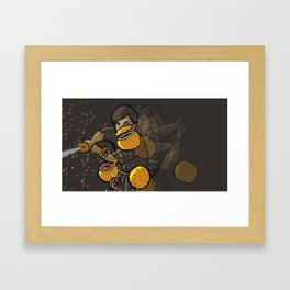 Grapefruit samurai Framed Art Print