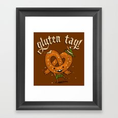 Gluten Tag Framed Art Print