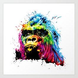 Rainbow Gorilla Art Print