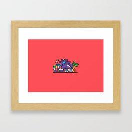 Beach or Bum it Framed Art Print
