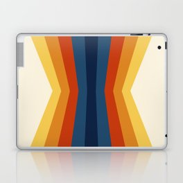 Bright 70's Retro Stripes Reflection Laptop & iPad Skin