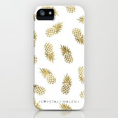 Gold Pineapples iPhone SE Slim Case