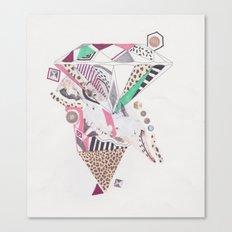 Leopard Diamond Paranoia Canvas Print