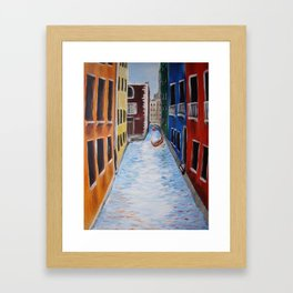 Colorful Canals Framed Art Print