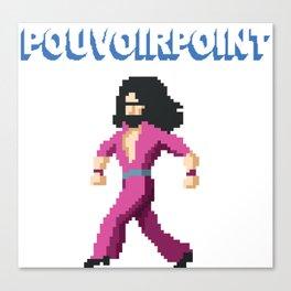 POUVOIRPOINT pixel Captain (white) Canvas Print