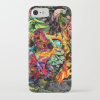 jazzberry iPhone & iPod Cases featuring Just another day in the jungle by Donuts