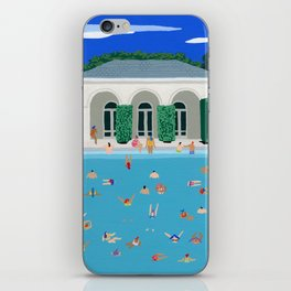 Pool house party iPhone Skin