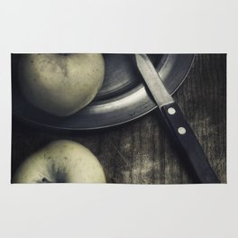 Still life with green apples Rug