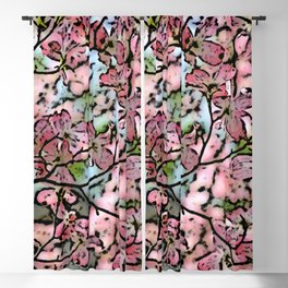 Blossomin pinl Blackout Curtain
