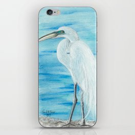 Kotuku (white heron) iPhone Skin