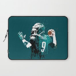 AMERICAN FOOTBALL PLAYER #on GREEN #eagles #NICK FOLES Laptop Sleeve