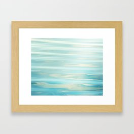Water Ripples Photography, Aqua Blue Ocean Abstract Art, Turquoise Sea, Seascape Framed Art Print