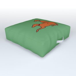 Vizslas on Green Outdoor Floor Cushion