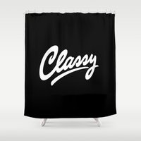 classy Shower Curtains featuring Classy by Sergey Shapiro