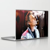 quentin tarantino Laptop & iPad Skins featuring Kurt Russell as Stuntman Mike McKay in the film Death Proof (Quentin Tarantino - 2007) by Gabriel T Toro