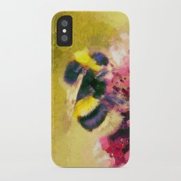 Buff-tailed bumblebee  Bombus terrestris iPhone Case