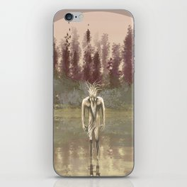 Tree spirit from the woods lake iPhone Skin