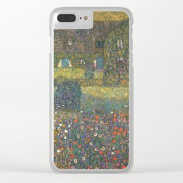 Gustav Klimt - Country House By The Attersee Clear iPhone Case