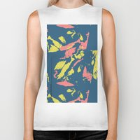 camo Biker Tanks featuring Bright Camo by lalaprints