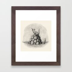 'Where Did You Go?' (Grey) Framed Art Print