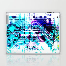 circuit board blue Laptop & iPad Skin