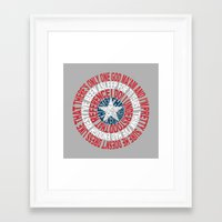 shield Framed Art Prints featuring Shield by Inbarigami