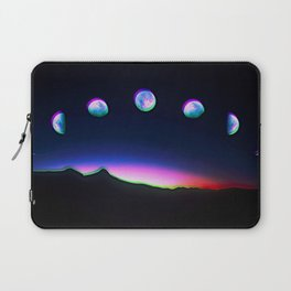 Trippy Moon Phases in the Night Sky Laptop Sleeve