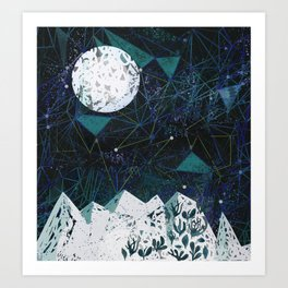 winter geometry Art Print