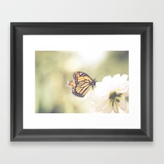 Love of a butterfly Framed Art Print