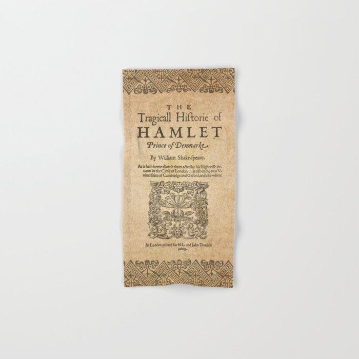 Shakespeare, Hamlet 1603 Hand & Bath Towel