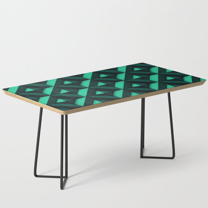 Concrete Wall Emerald Green Coffee Table By Ratherswell