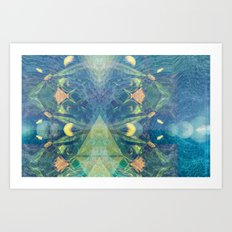 Deep Space Aphelionic Vegetation Surface Discovery Art Print