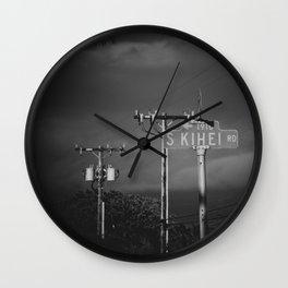 South Kihei Road Street Sign Maui Hawaii Wall Clock