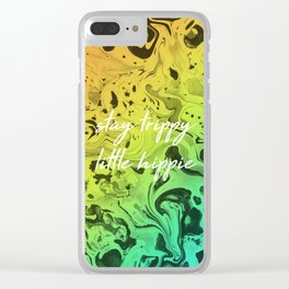 Stay Trippy Clear iPhone Case