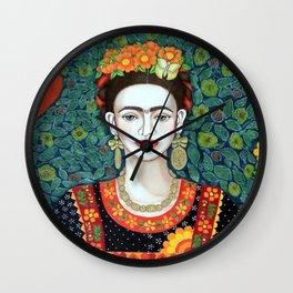 Frida, queen of hearts closer II Wall Clock