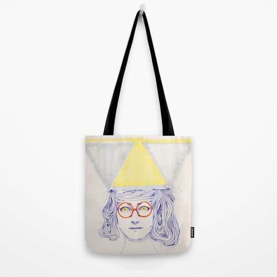 Yellow Triangles Tote Bag