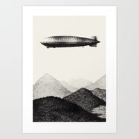 led zeppelin Art Prints featuring Zeppelin by Sara Collings